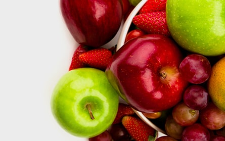fruits apples strawberries grapes